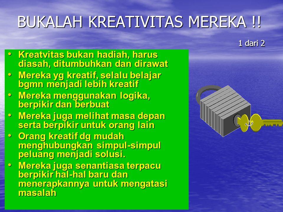 BUKALAH KREATIVITAS MEREKA !! 1 dari 2