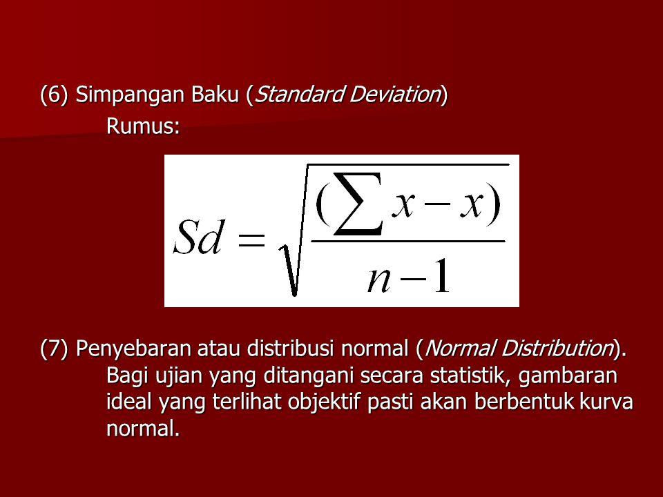 (6) Simpangan Baku (Standard Deviation)