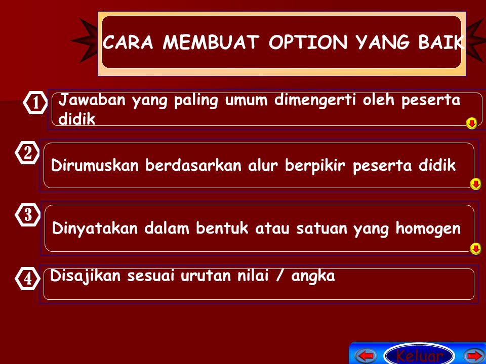 CARA MEMBUAT OPTION YANG BAIK