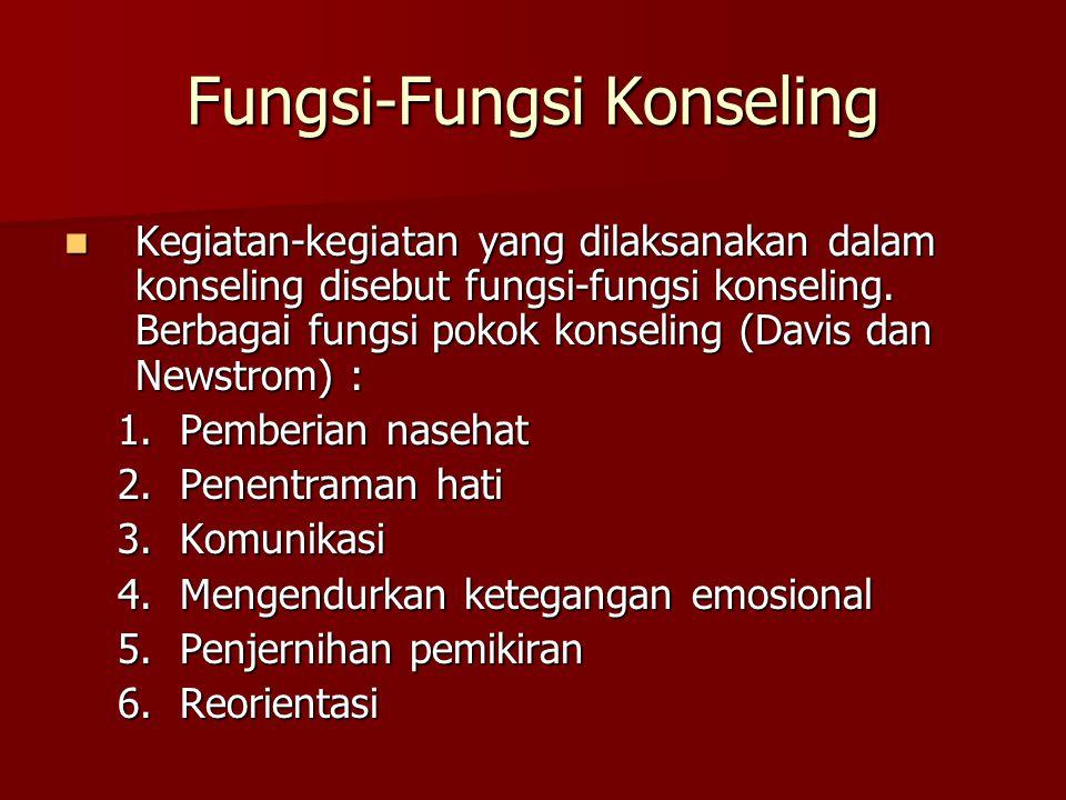 Fungsi-Fungsi Konseling