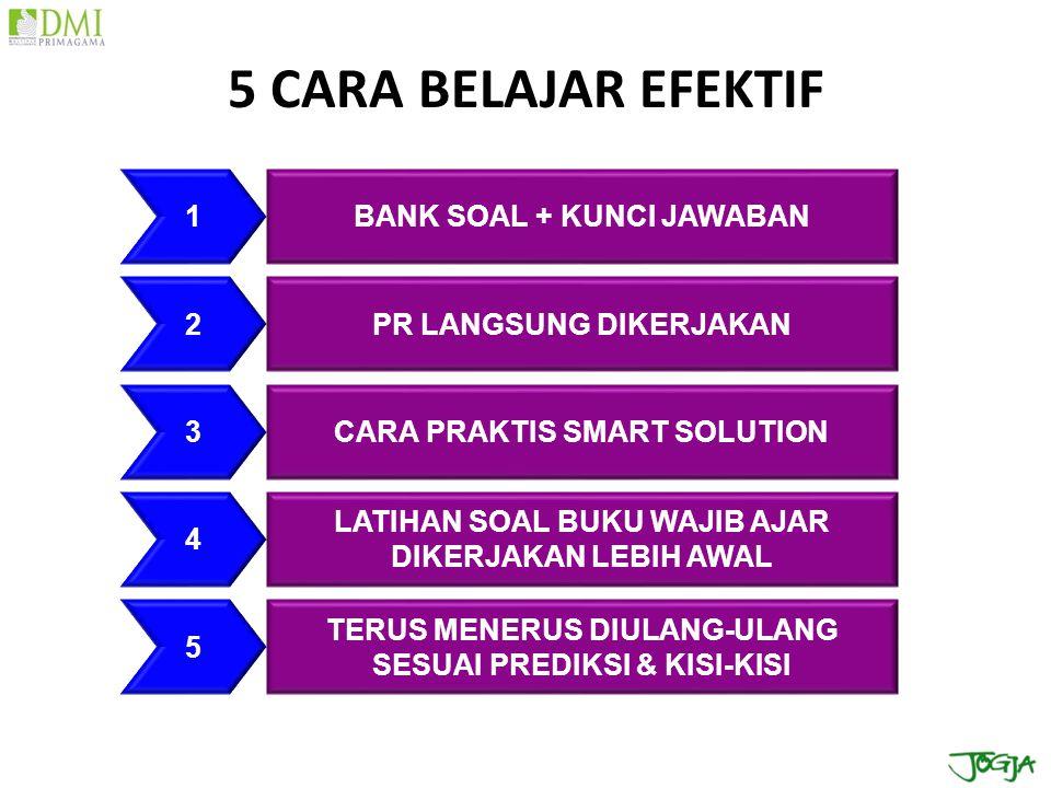 5 CARA BELAJAR EFEKTIF 1 BANK SOAL + KUNCI JAWABAN 2
