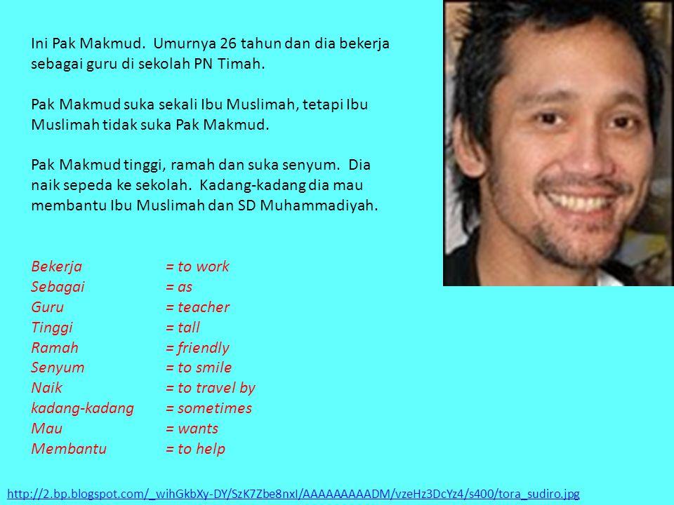 kadang-kadang = sometimes Mau = wants Membantu = to help