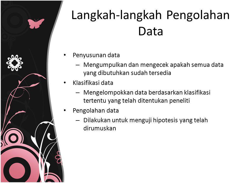 Langkah-langkah Pengolahan Data