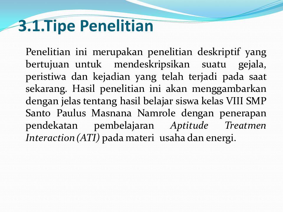 3.1.Tipe Penelitian