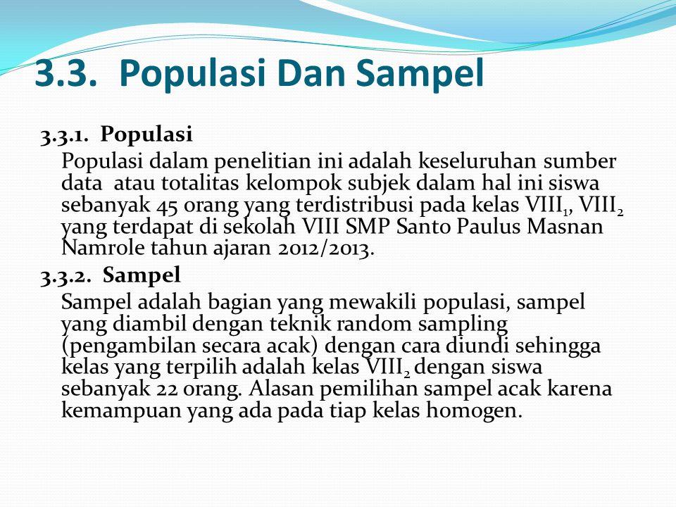 3.3. Populasi Dan Sampel