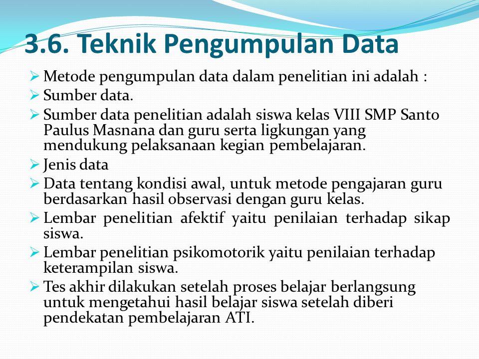 3.6. Teknik Pengumpulan Data