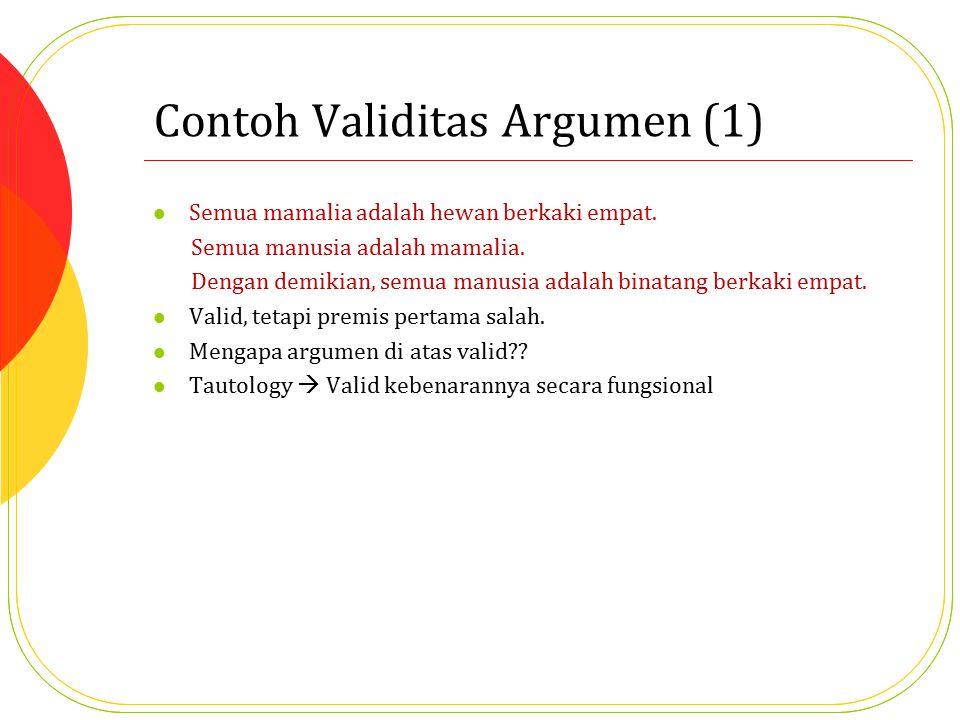 Contoh Validitas Argumen (1)