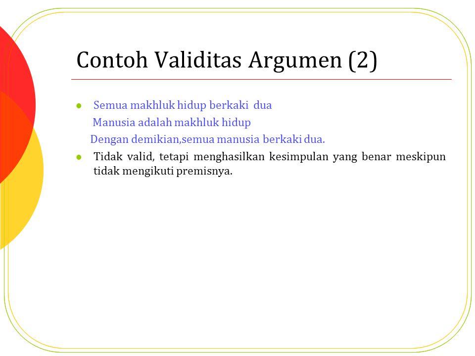 Contoh Validitas Argumen (2)