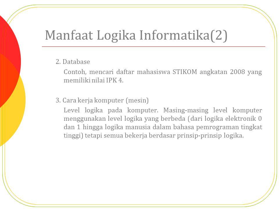 Manfaat Logika Informatika(2)