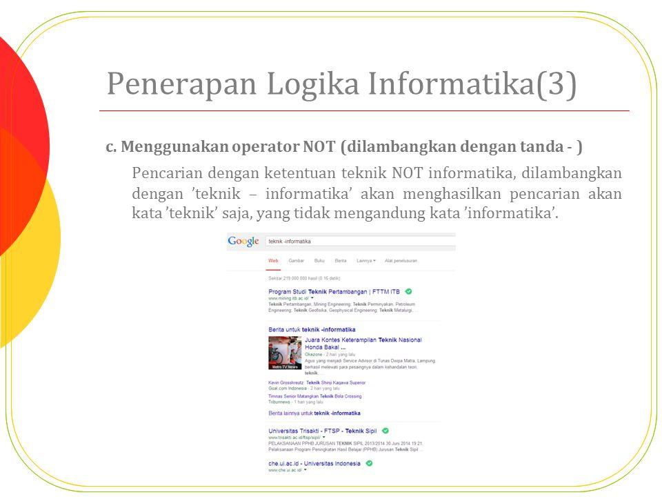 Penerapan Logika Informatika(3)