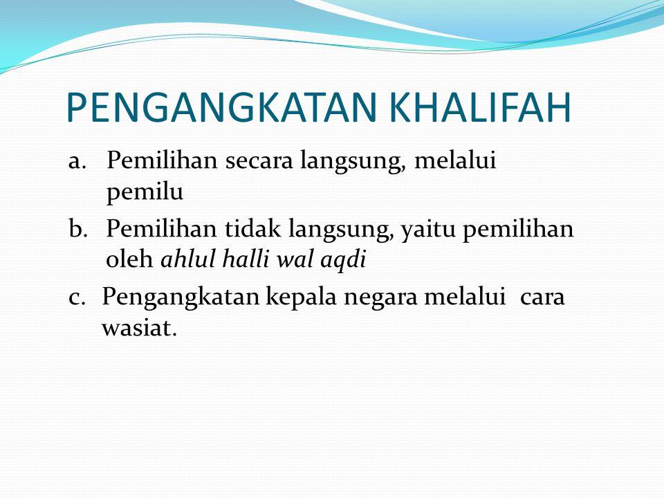 PENGANGKATAN KHALIFAH