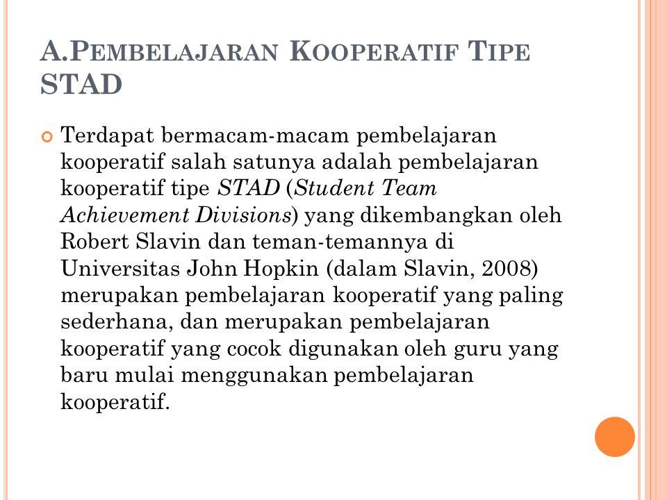 A.Pembelajaran Kooperatif Tipe STAD