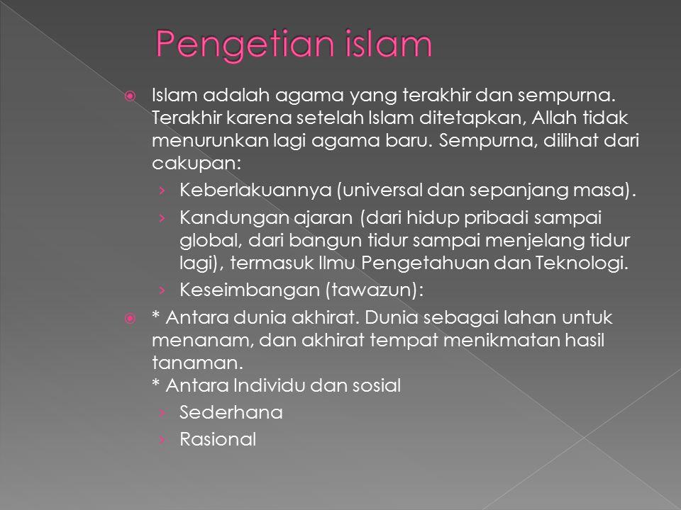 Pengetian islam