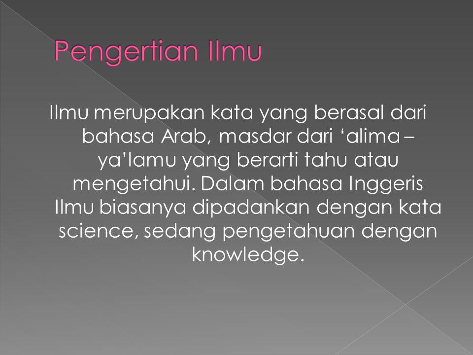 Pengertian Ilmu