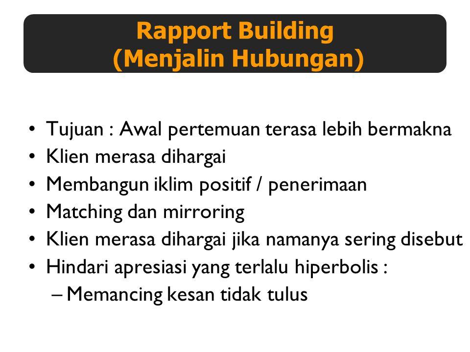 Rapport Building (Menjalin Hubungan)