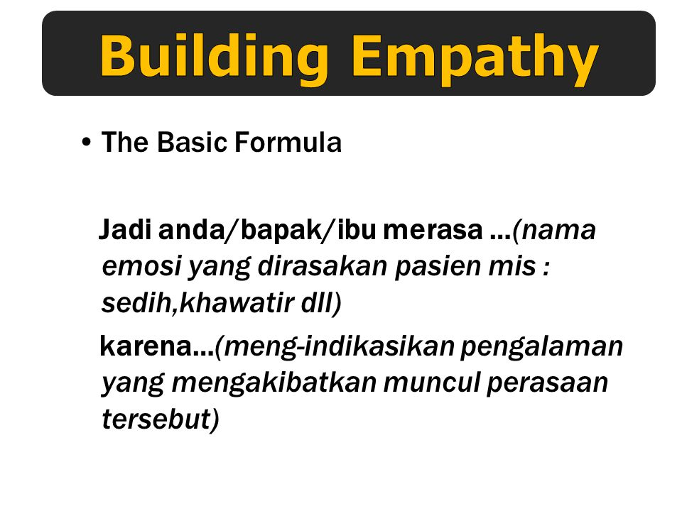Building Empathy The Basic Formula