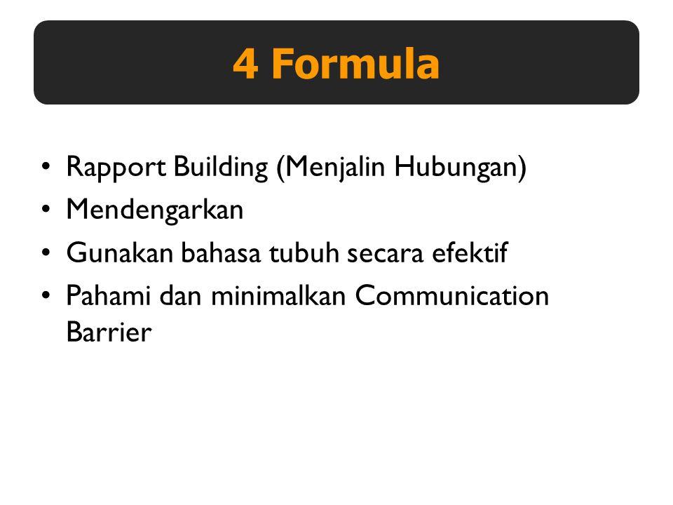 4 Formula Rapport Building (Menjalin Hubungan) Mendengarkan