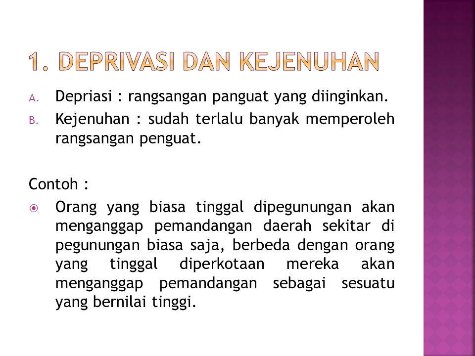 1. Deprivasi dan Kejenuhan