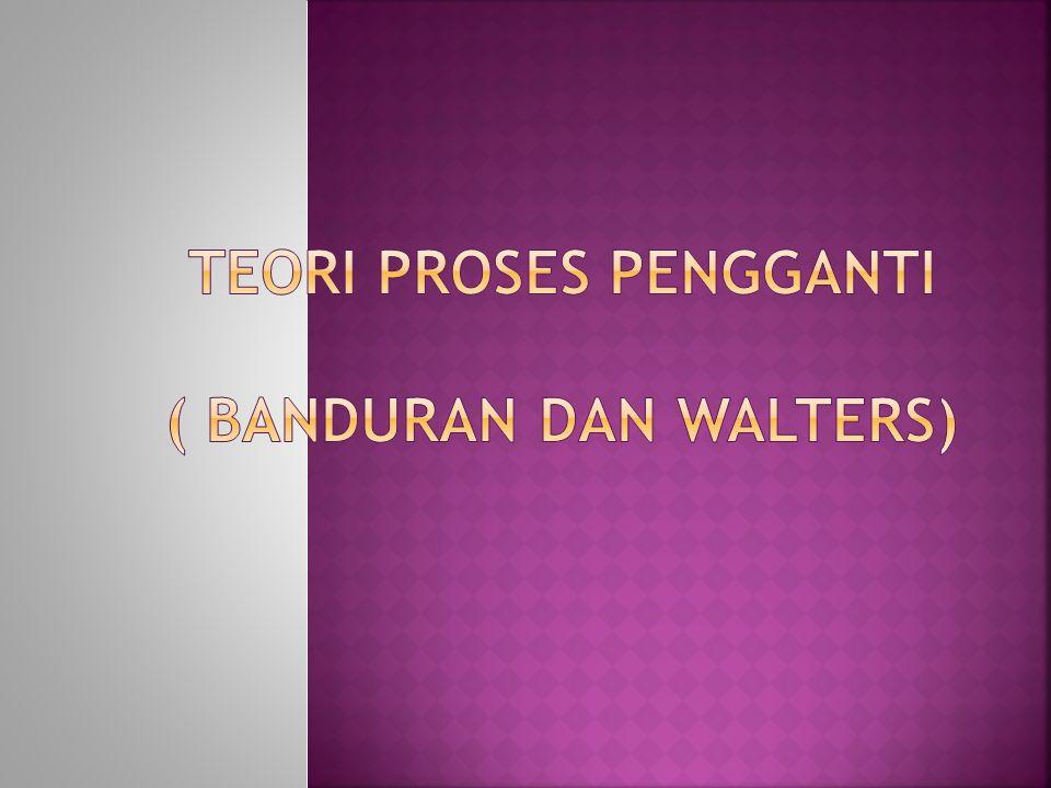 Teori proses pengganti ( banduran dan walters)