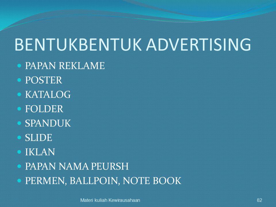 BENTUKBENTUK ADVERTISING