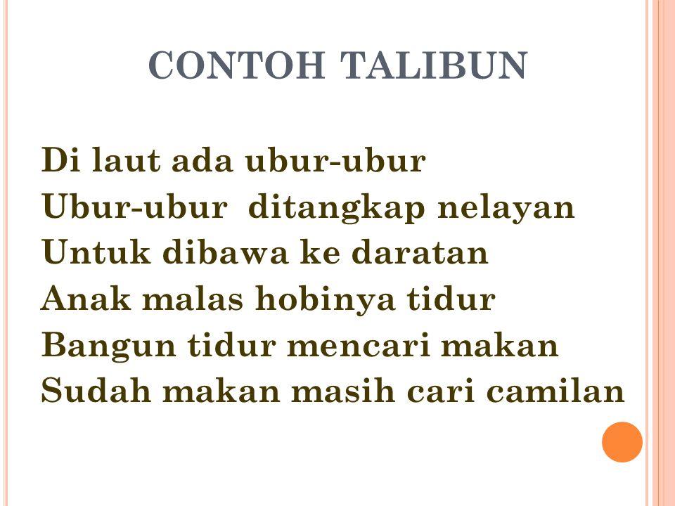 CONTOH TALIBUN