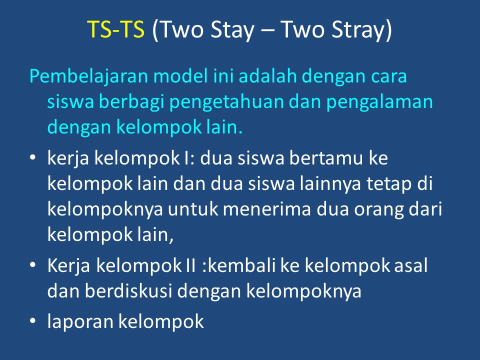 TS-TS (Two Stay – Two Stray)