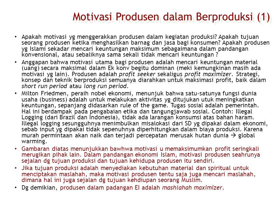 Motivasi Produsen dalam Berproduksi (1)