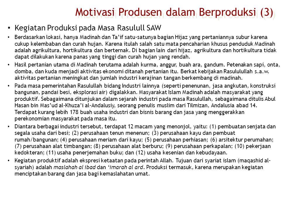 Motivasi Produsen dalam Berproduksi (3)