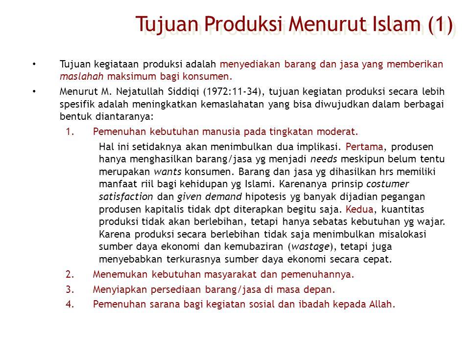Tujuan Produksi Menurut Islam (1)