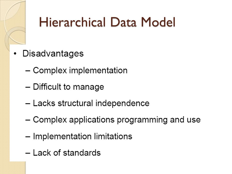 Hierarchical Data Model