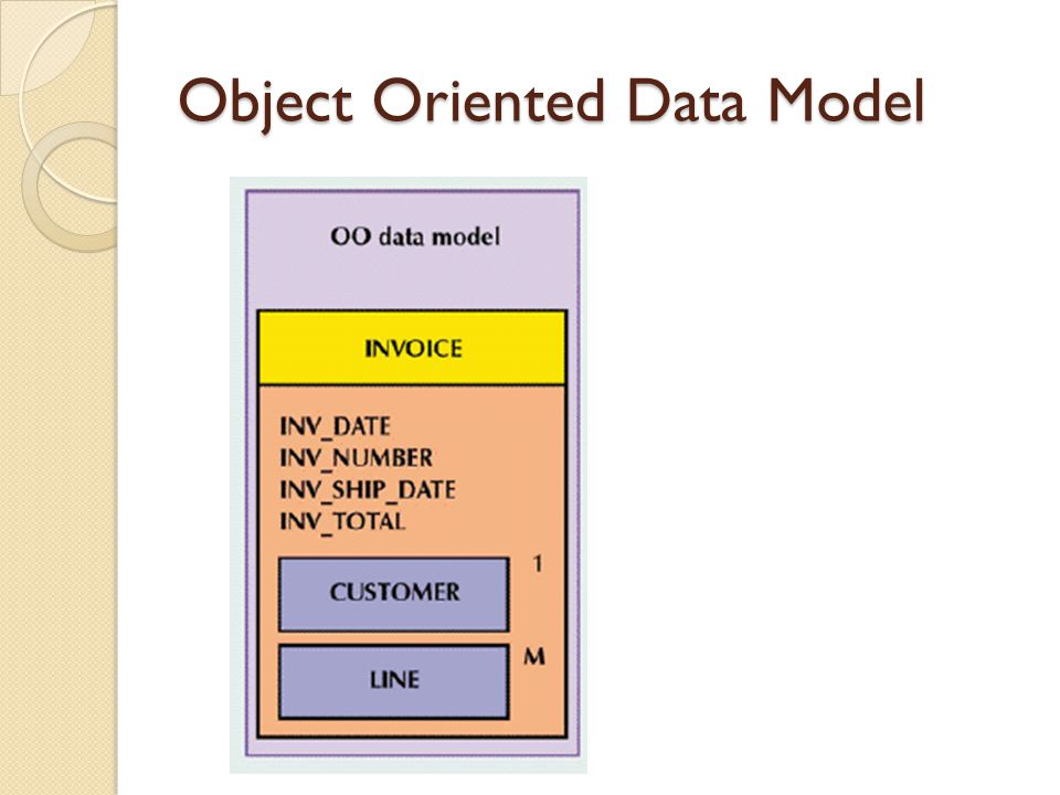 Object Oriented Data Model