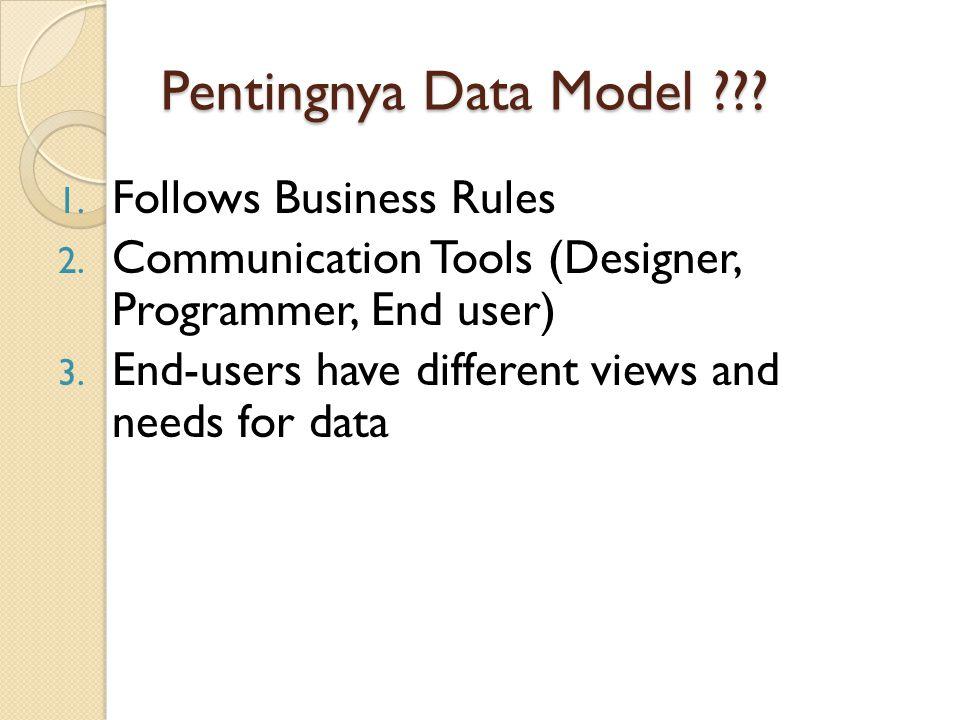 Pentingnya Data Model Follows Business Rules