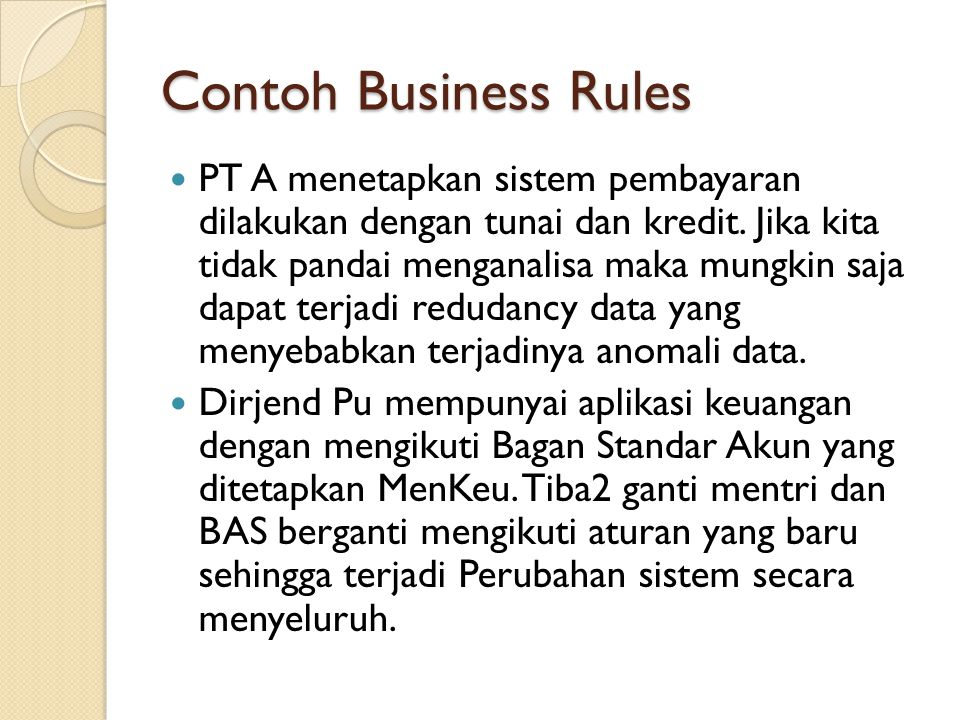 Contoh Business Rules