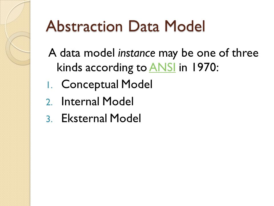 Abstraction Data Model