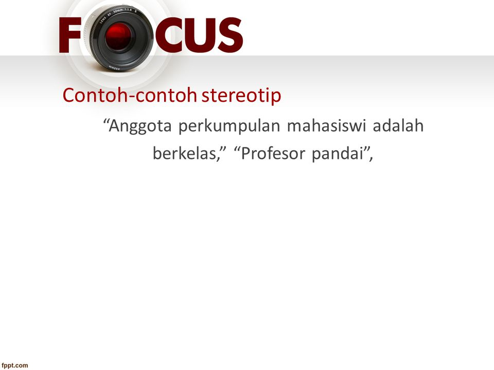 Contoh-contoh stereotip