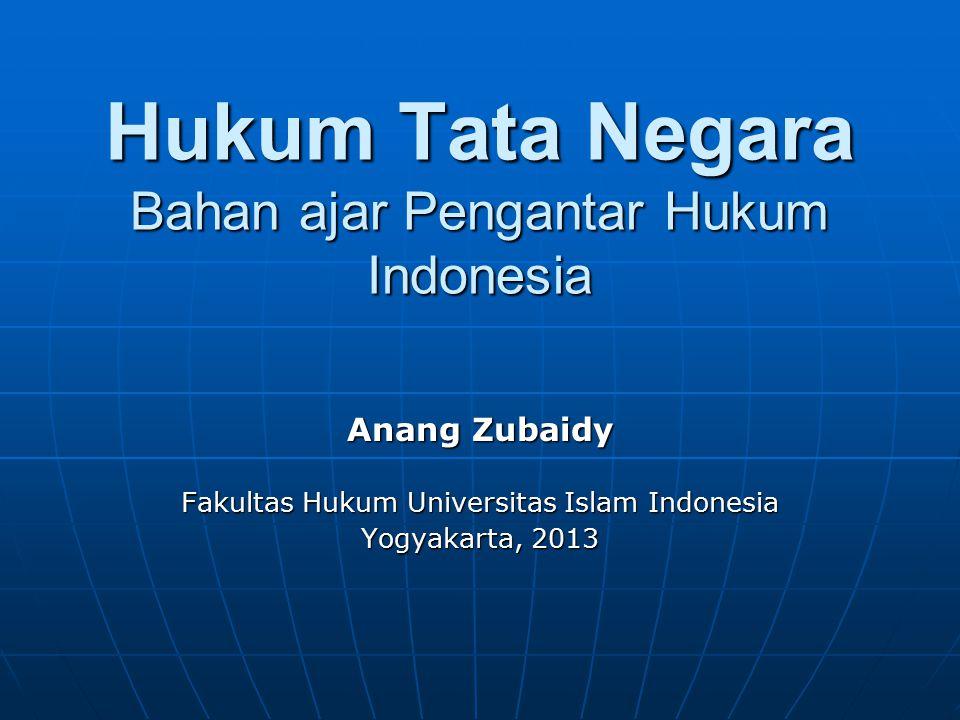Hukum Tata Negara Bahan ajar Pengantar Hukum Indonesia