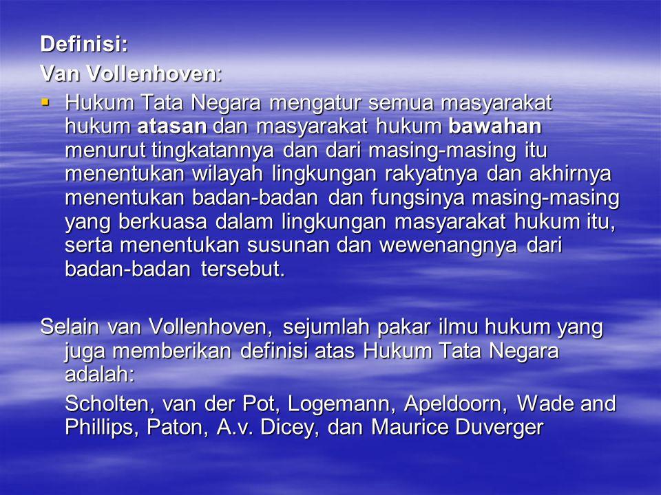 Definisi: Van Vollenhoven:
