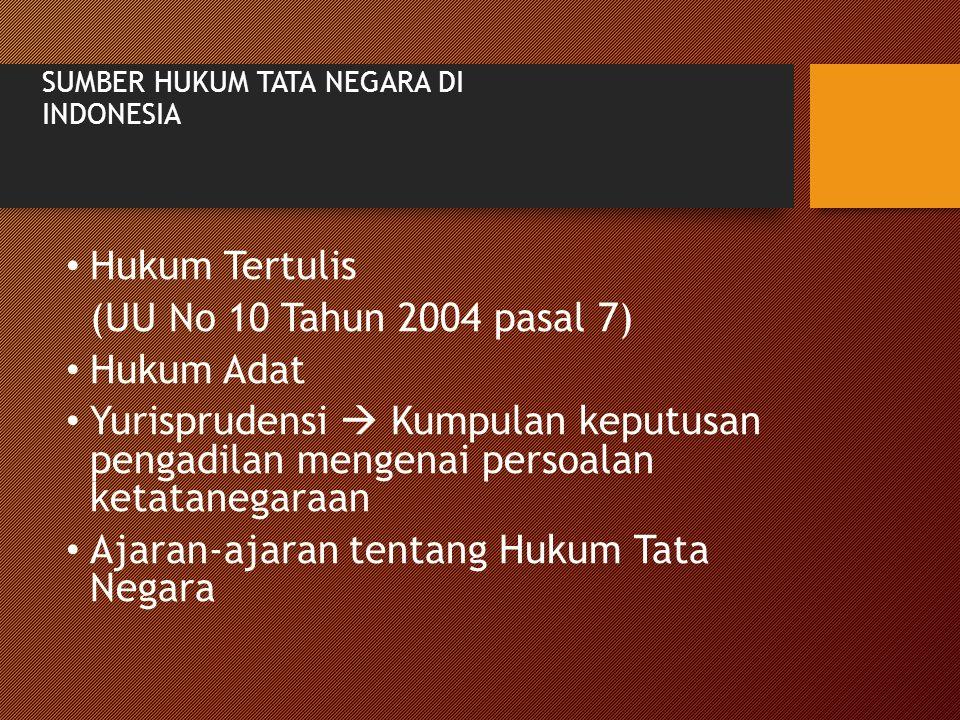 SUMBER HUKUM TATA NEGARA DI INDONESIA