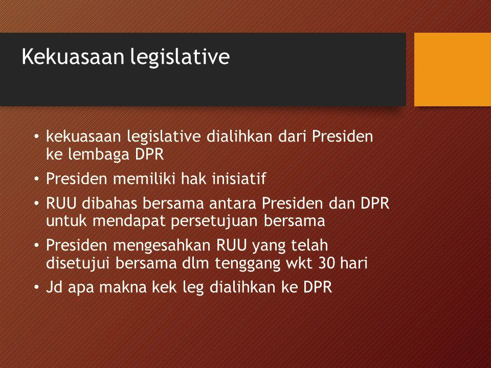 Kekuasaan legislative