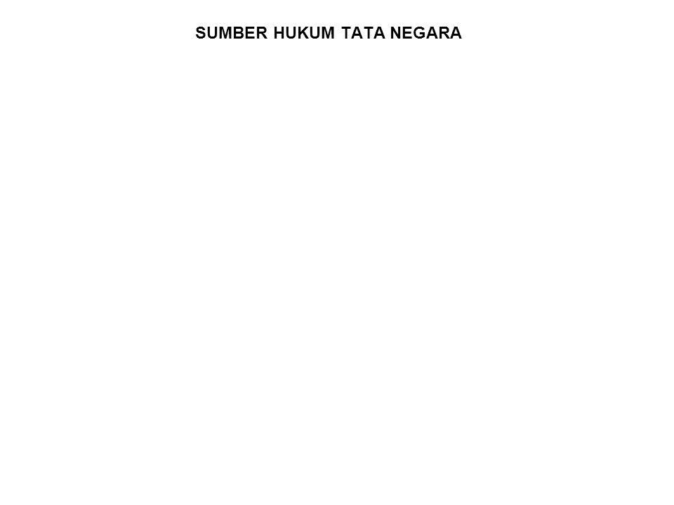 SUMBER HUKUM TATA NEGARA