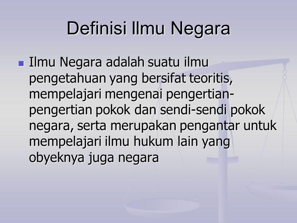 Definisi Ilmu Negara