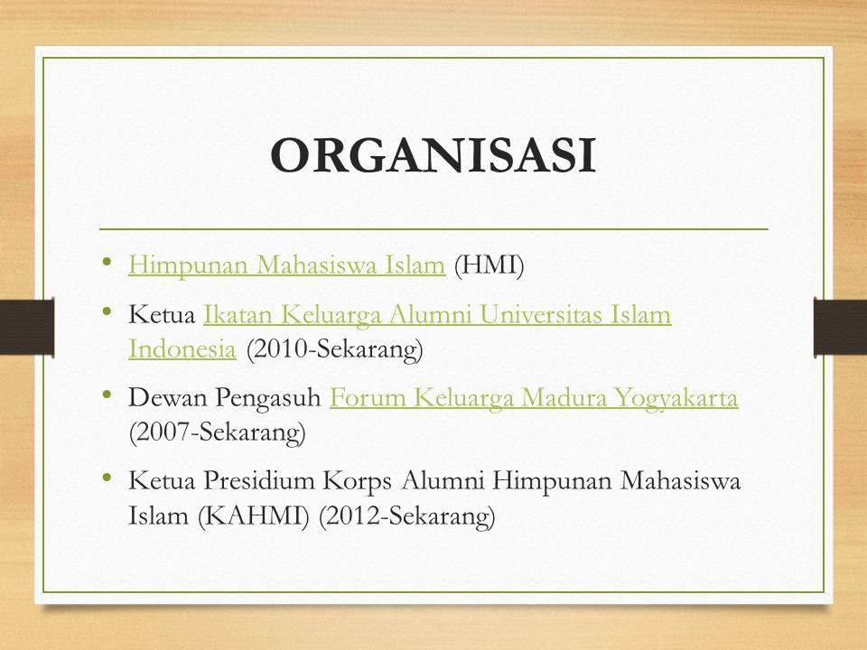ORGANISASI Himpunan Mahasiswa Islam (HMI)