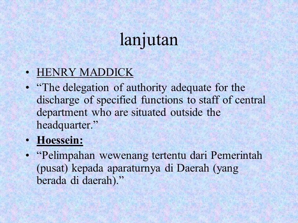 lanjutan HENRY MADDICK