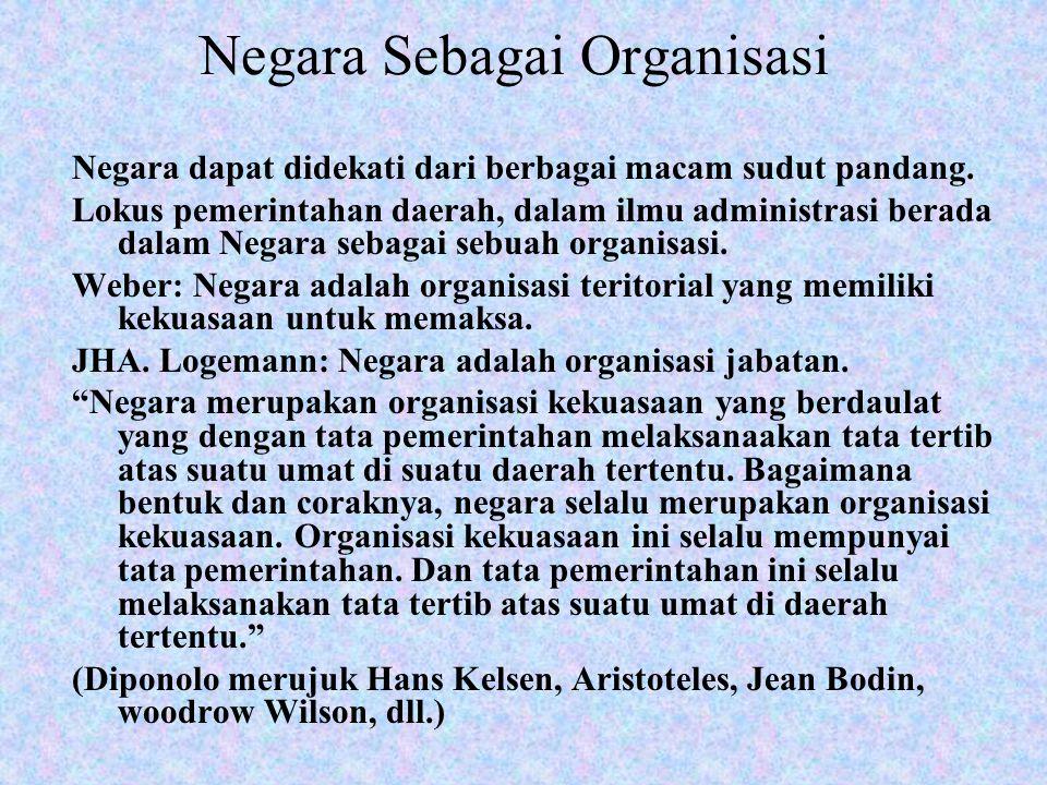 Negara Sebagai Organisasi