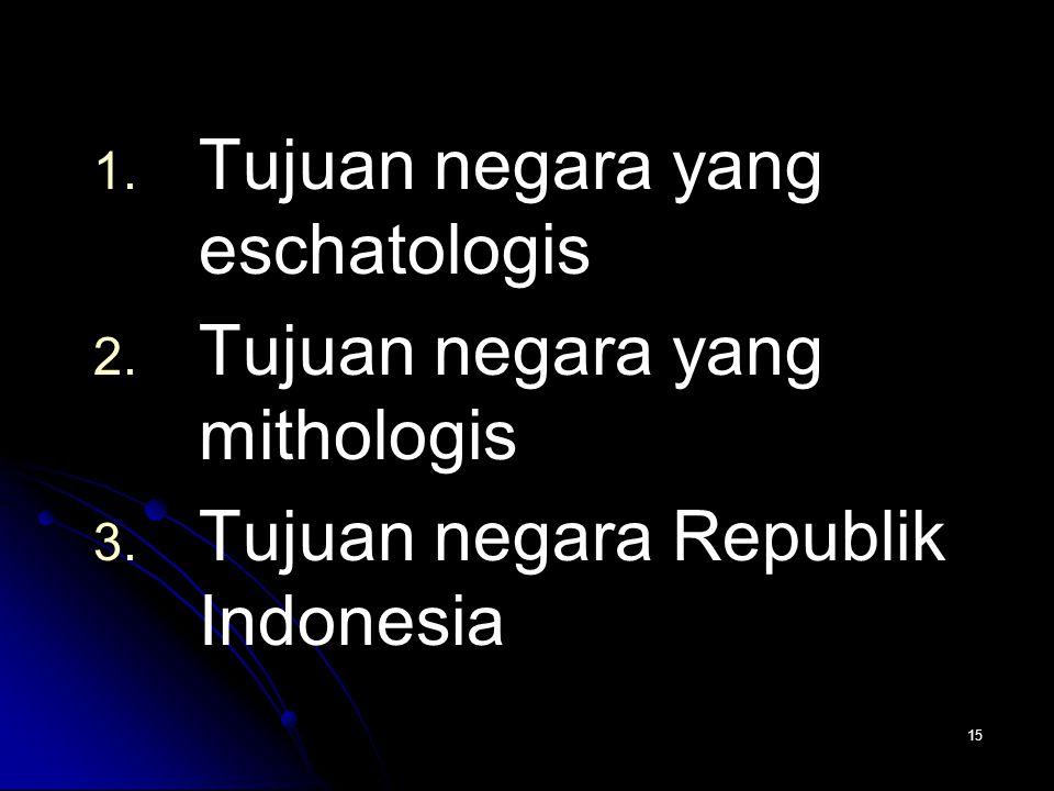 Tujuan negara yang eschatologis