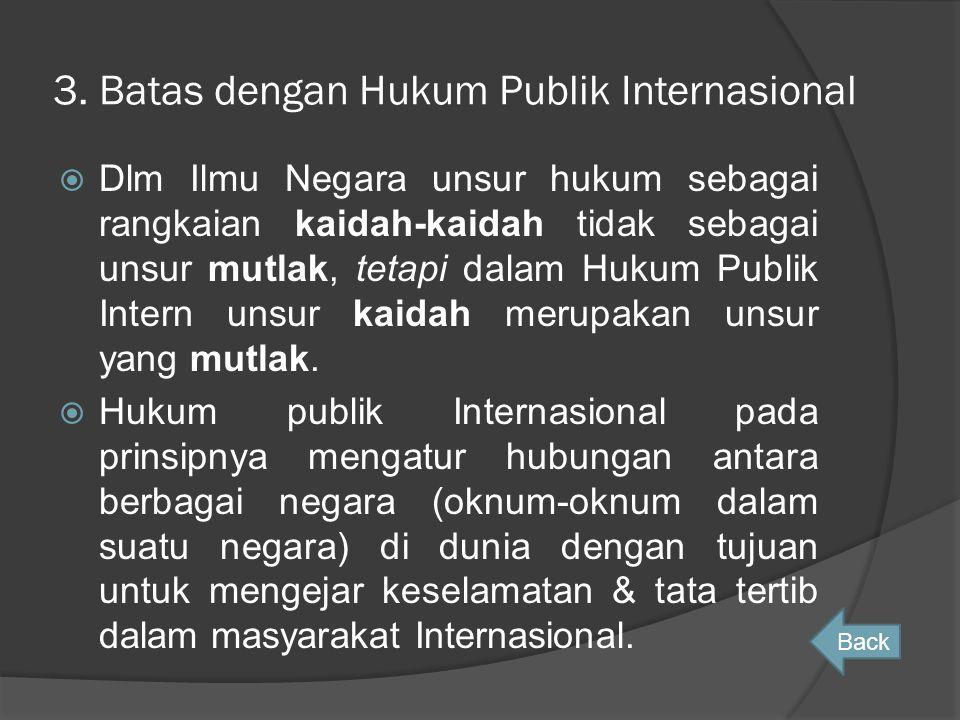 3. Batas dengan Hukum Publik Internasional