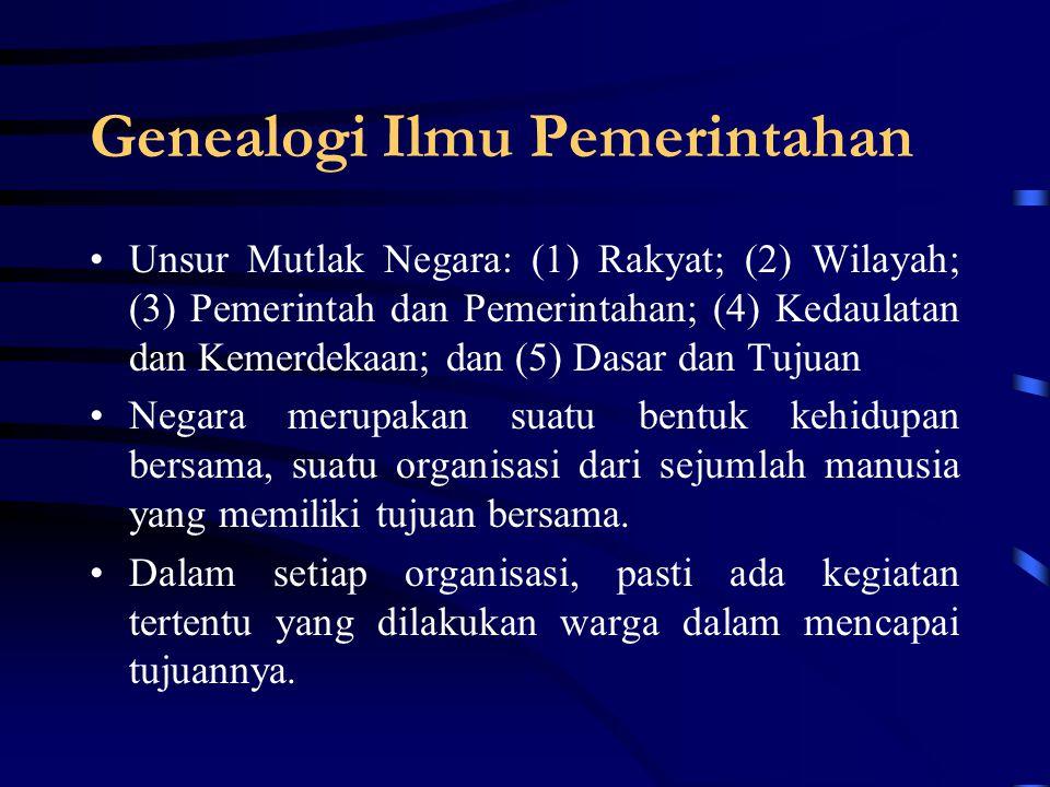 Genealogi Ilmu Pemerintahan