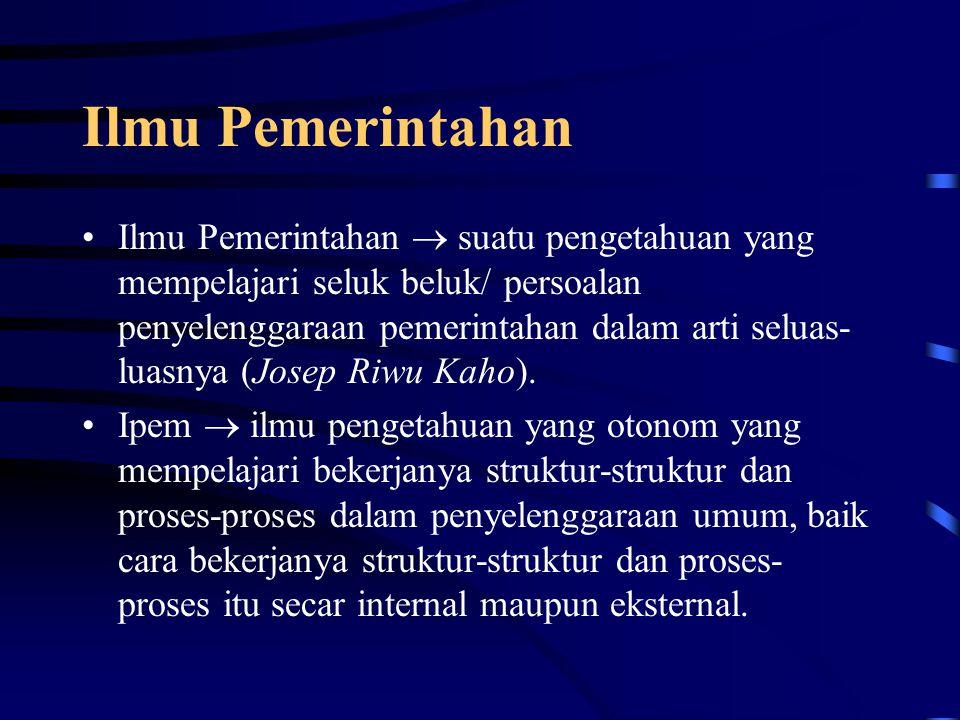 Ilmu Pemerintahan