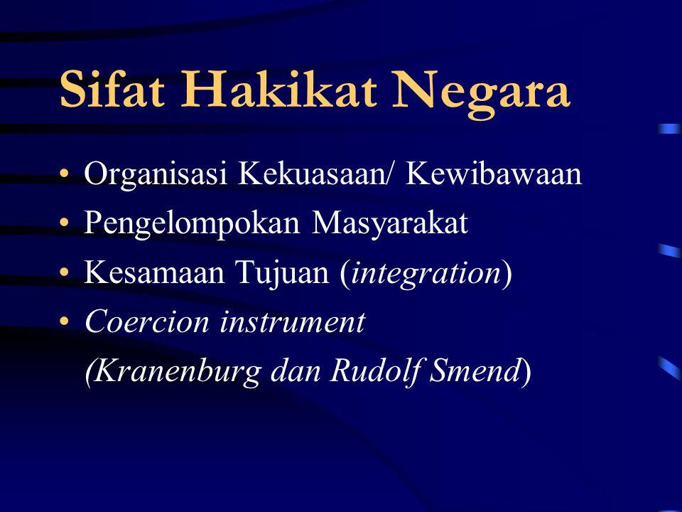 Sifat Hakikat Negara Organisasi Kekuasaan/ Kewibawaan
