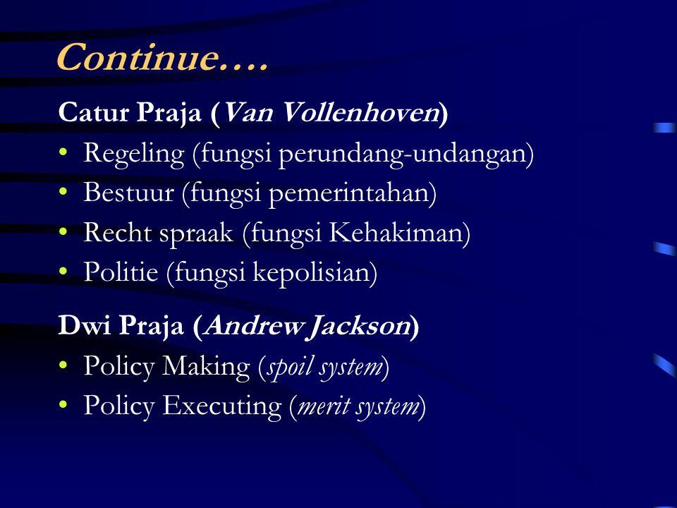 Continue…. Catur Praja (Van Vollenhoven)